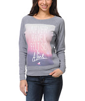Glamour Kills Always Alive Grey Crew Neck Sweatshirt