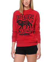 Glamour Kills Defenders Red Crew Neck Sweatshirt