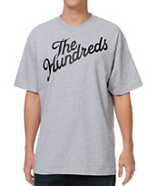 The Hundreds Forever Stop It Slant Heather Grey Tee Shirt