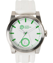 LRG Volt Silver & White Analog Watch