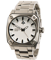 LRG Gauge Silver & White Analog Watch