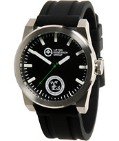 LRG Volt Silver & Black Analog Watch