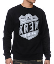 KR3W Herald Black Crew Neck Sweatshirt