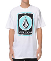 Volcom Box Stain White Tee Shirt