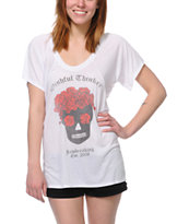 Jawbreaking Wishful Thinker White Flowy Tee Shirt