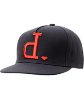 Diamond Supply Un Polo Navy & Red Snapback Hat