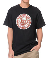 KR3W Crest Stamp Black Tee Shirt