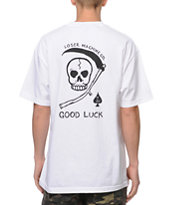 Loser Machine Aces Low White Pocket Tee Shirt