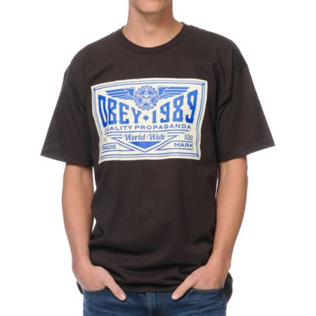 Obey Kings Trademark Brown Tee Shirt