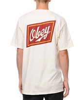 Obey Malt Liquor Natural Tee Shirt