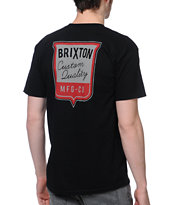 Brixton Stitch Black Tee Shirt