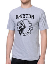 Brixton Anthem Heather Grey Tee Shirt
