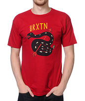 Brixton Rattle Dark Red Tee Shirt