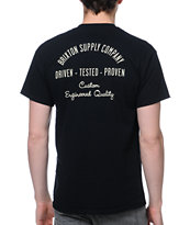 Brixton Driven Black Pocket Tee Shirt