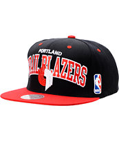 NBA Mitchell and Ness Portland Trailblazers Black Snapback Hat