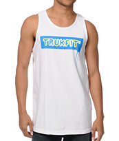 TrukFit Drip White Tank Top