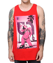 TMLS Bottoms Up Red Tank Top