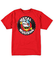 Metal Mulisha Boys Crash Red Tee Shirt