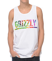 Diamond Supply x Grizzly Grip Tape T-Puds Grizzly Stamp White Tank Top