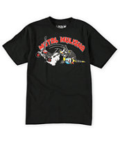 Metal Mulisha Boys Crash N Burn Black Tee Shirt