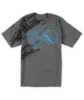 Metal Mulisha Boys Burst Charcoal Tee Shirt
