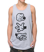 Booger Kids Rock Paper Cut Dumbo Grey Tank Top