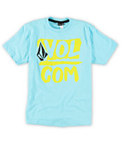 Volcom Boys Linked Up Blue Tee Shirt