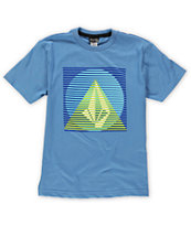 Volcom Boys Line Pyramid Blue Tee Shirt