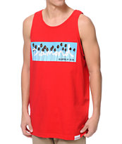 Diamond Supply OG Palms Red Tank Top