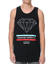 Diamond Supply 15 Years Of Brilliance Black Tank Top