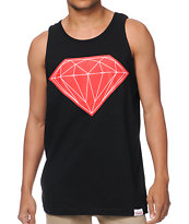 Diamond Supply Big Brilliant Black & Red Tank Top