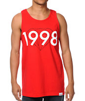 Diamond Supply 98 Brilliant Red Tank Top