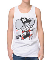 Neff X Deadmau5 1 Up White Tank Top