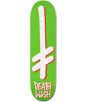 Deathwish Gang Logo Green & Red 8.0 Skateboard Deck