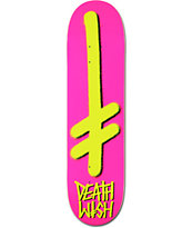 Deathwish Gang Logo Pink & Yellow 8.0 Skateboard Deck