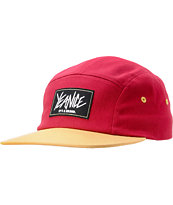 Yea.Nice Hull Burgundy & Tan Print 5 Panel Hat