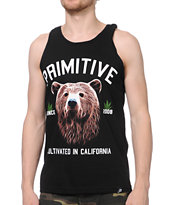 Primitive Golden Bear Black Tank Top