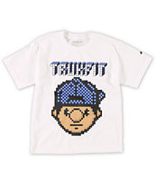Trukfit Boys Tommy Digi White Tee Shirt