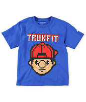 Trukfit Boys Tommy Digi Blue Tee Shirt