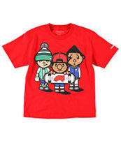 Trukfit Boys 3 Times Dope Red Tee Shirt
