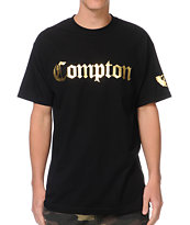 Gold Wheels Compton Black & Gold Tee Shirt