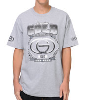 Gold Wheels Genuine Grey Tee Shirt