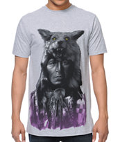 Rook Running Wolf Grey Tee Shirt