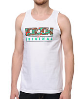 KR3W Camo Core White Tank Top