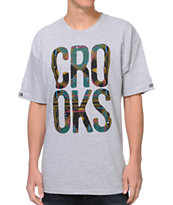 Crooks and Castles Regalia Grey Tee Shirt