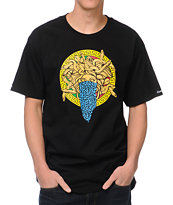 Crooks and Castles Bandusa Black Tee Shirt
