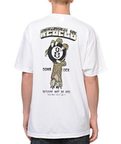 REBEL8 Dumbluck White Pocket Tee Shirt