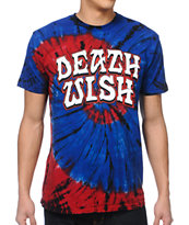 Deathwish Great Death Blue Tie-Dyed Tee Shirt