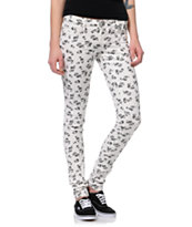 Almost Famous Skull White & Black Skinny Jeans