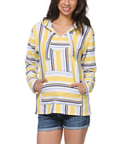 Senor Lopez Yellow & White Poncho